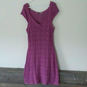 Athleta Purple Horseshoe Bay Crochet Dress Size XL